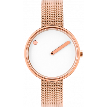 PICTO WHITE/POLISHED ROSE GOLD 43381-1112
