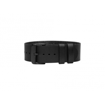 TID Watches Black Leather Wristband