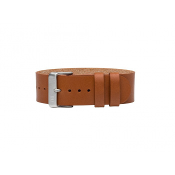 TID Watches Tan/Silver Leather Wristband