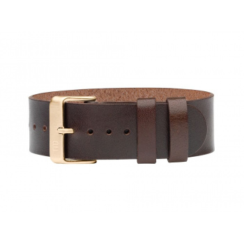 TID Watches Walnut/Gold Leather Wristband