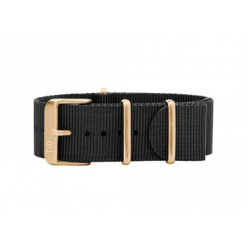 TID Watches Black/Gold Nylon Wristband