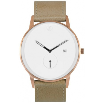 WHY WATCHES Modernist Model 1 - Rose Gold / Tan