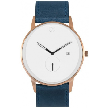 WHY WATCHES Modernist Model 1 - Rose Gold / Navy Blue