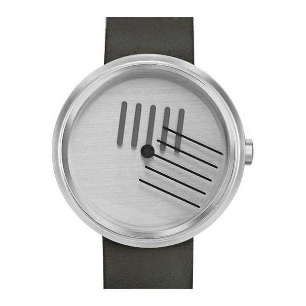 Hodinky PROJECT WATCHES On the Right Track / Black Leather