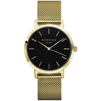ROSEFIELD THE MERCER BLACK / GOLD 38 MM MBG-M46
