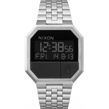 NIXON RE-RUN SILVER/BLACK