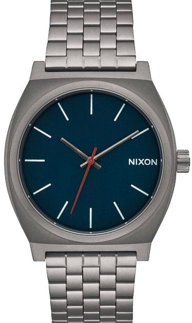 NIXON TIME TELLER ALL GUNMETAL DARK BLUE + dárek zdarma Nixon