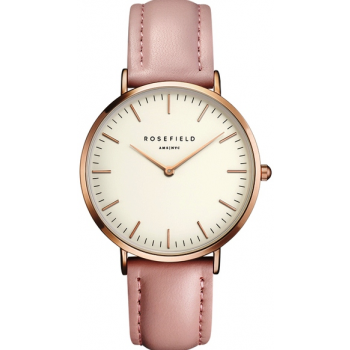 ROSEFIELD THE BOWERY ROSE GOLD WHITE / PINK 38 MM BWPR-B7