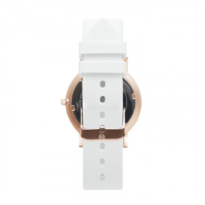 Hodinky SHORE PROJECTS HOLKHAM - White Silicone / Rose Gold