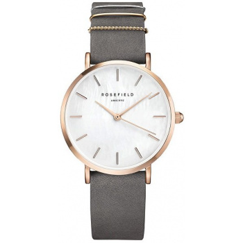 ROSEFIELD THE WEST VILLAGE ELEPHANT GREY ROSE GOLD / 33MM