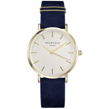 ROSEFIELD THE WEST VILLAGE VELVET BLUE GOLD / 33MM