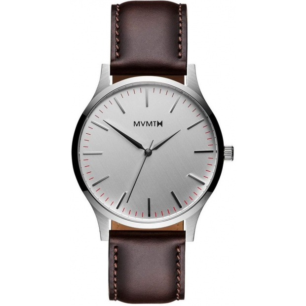 Hodinky MVMT THE 40 - Silver/Brown Leather