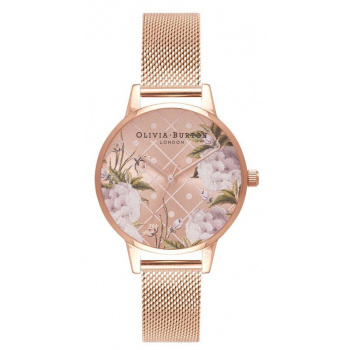 OLIVIA BURTON DOT DESIGN ROSE GOLD MESH OB16DD06