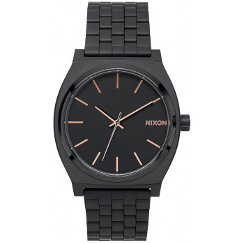 NIXON TIME TELLER ALL BLACK ROSE GOLD