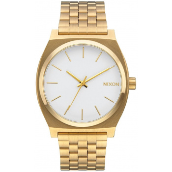 NIXON TIME TELLER GOLD WHITE