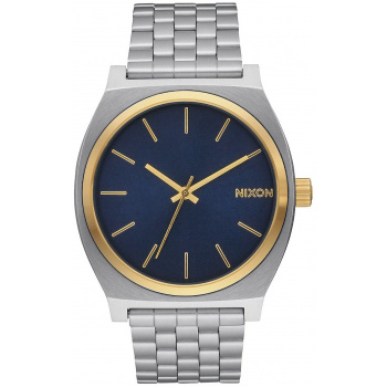 NIXON TIME TELLER GOLD BLUE SUNRAY