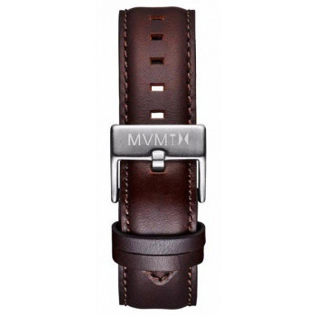 MVMT MENS 40 SERIES 20MM BROWN LEATHER SILVER