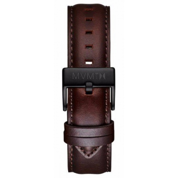 MVMT MENS 40 SERIES 20MM BROWN LEATHER BLACK