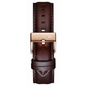 MVMT MENS 40 SERIES 20MM BROWN LEATHER ROSE GOLD