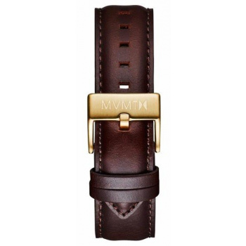 MVMT MENS 40 SERIES 20MM BROWN LEATHER GOLD