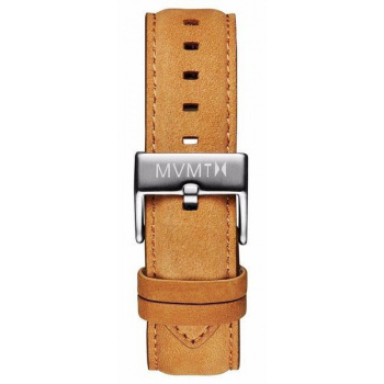 MVMT MENS 40 SERIES 20MM TAN LEATHER SILVER