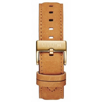 MVMT MENS 40 SERIES 20MM TAN LEATHER GOLD