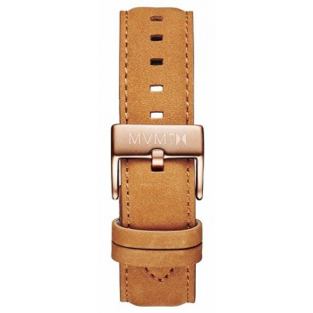 MVMT MENS 40 SERIES 20MM TAN LEATHER ROSE GOLD