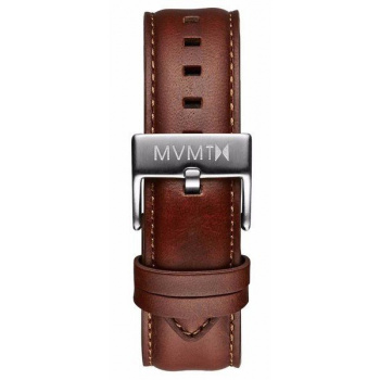 MVMT MENS 40 SERIES 20MM NATURAL LEATHER SILVER