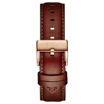 MVMT MENS 40 SERIES 20MM NATURAL LEATHER ROSE GOLD