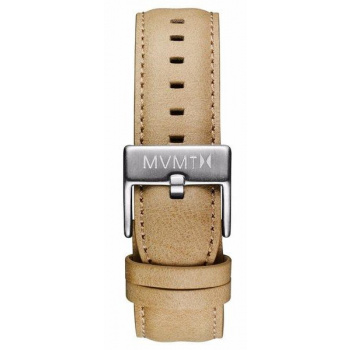 MVMT MENS 40 SERIES 20MM SANDSTONE LEATHER SILVER