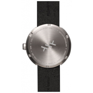 Hodinky LEFF TUBE WATCH D38 / STEEL WITH BLACK LEATHER STRAP
