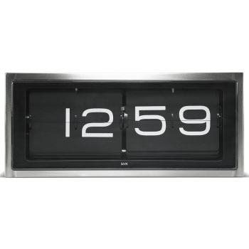LEFF wall/desk clock brick stainless steel 24h black