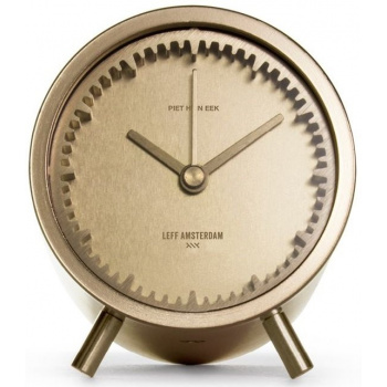 LEFF Tube clock brass