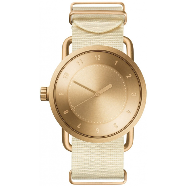 Hodinky TID Watches No.1 Gold / Off-White Nylon