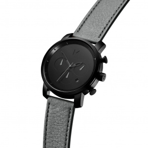 Hodinky MVMT BLACK SAGE GREY LEATHER/CHRONO 40