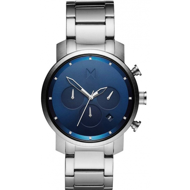 Hodinky MVMT  CHRONO SERIES - 40 MM NAVY SILVER MC02-SBLU