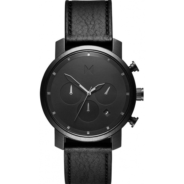Hodinky MVMT BLACK LEATHER/CHRONO 40
