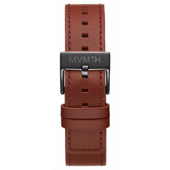 MVMT MENS CHRONO 40MM SERIES 20MM NATURAL TAN LEATHER GUNMETAL