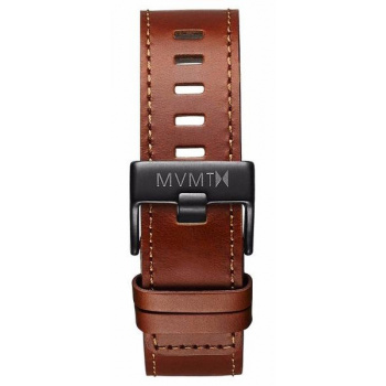 MVMT MENS CHRONO 45MM SERIES 22MM NATURAL LEATHER BLACK