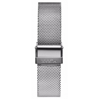 MVMT WOMENS AVENUE SERIES 14MM MESH BAND SILVER
