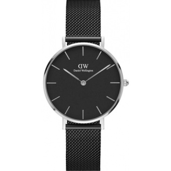 DANIEL WELLINGTON CLASSIC PETITE ASHFIELD SILVER BLACK 32MM DW00100202
