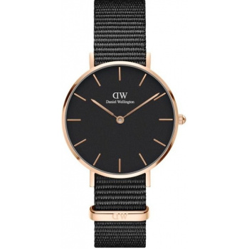 DANIEL WELLINGTON CLASSIC PETITE CORNWALL ROSE GOLD BLACK 32MM DW00100215