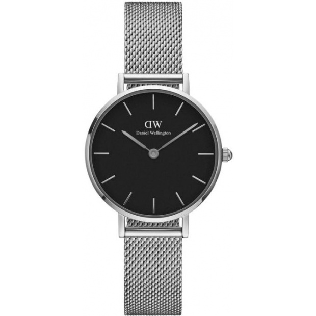 Hodinky DANIEL WELLINGTON CLASSIC PETITE STERLING 28 MM/SILVER/BLACK