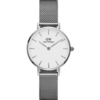 DANIEL WELLINGTON CLASSIC PETITE STERLING 28 MM/SILVER/WHITE DW00100220