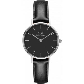 DANIEL WELLINGTON CLASSIC PETITE SHEFFIELD 28 SILVER BLACK