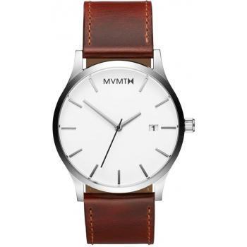 MVMT CLASSIC SERIES - 45 MM SILVER NATURAL TAN
