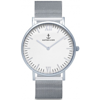 KAPTEN and SON Silver Mesh