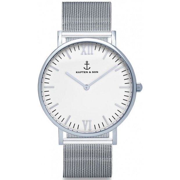 Hodinky KAPTEN and SON Silver Mesh