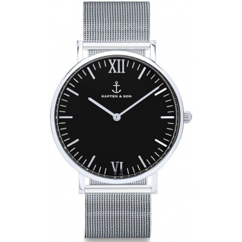 KAPTEN and SON Silver Black Mesh