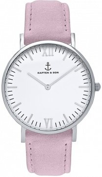 KAPTEN and SON Silver Lavender Velvet Leather + dárek zdarma